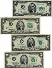 4-1976 BICENTENNIAL $ 2.00 FEDERAL RESERVE NOTES, UNITED STATES CURRENCY