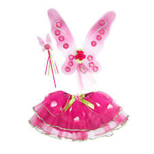 Cerise PINK Fairy Dress Up Set-Travis Sugar Plum Fairy Set-Varita alas Tutu