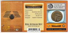 2006 - 50 Years of Australian Television TV $1 Coin - 'S' Mintmark