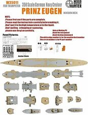 Hunter 1/350 W35011 Wood deck German Prinz Eugen for Trumpeter