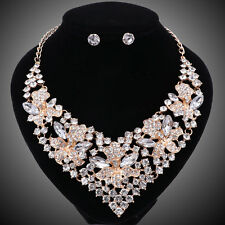 Fashion Crystal Beads Jewelry Sets For Women Bridal Wedding Necklace Earring Set
