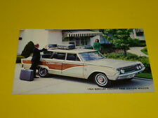 1964 MERCURY COLONY PARK STATION WAGON POSTCARD, DEALER ADVERTISEMENT