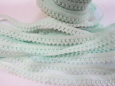 """10 yard Elastic Spandex Band Fancy Scallop Lace 1/2"""" Trim/Trimming T65-Baby Blue"""