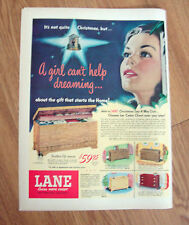 1950 Lane Cedar Hope Chests Ad Christmas Theme A Girl Can't Help Dreaming