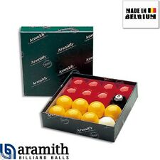 Billes Boules de billard Pool Aramith Premier 57 mm jaunes et rouges billards