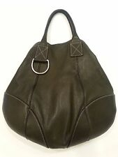 "AUTHENTIC DOLCE & GABBANA ""MISS ICE"" LEATHER HOBO BAG - OLIVE GREEN - USED"