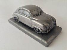Saab 92 Pewter Effect 1.43 Scale Model Car Made In Sheffield