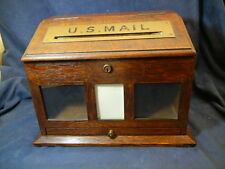 ANTIQUE OAK LETTER POSTAL BOX - US MAIL HARD TO FIND