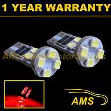 2x W5w T10 501 Canbus Error Free Rojo 8 Led sidelight Laterales Bombillos sl101605