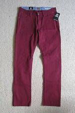 New Men's Unyforme The Fairview Thomas Fit Slim/Skinny Maroon Red Jeans 32x34
