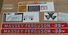 MASSEY FERGUSON 35 DECALS. COMPLETE SET. ALL DECALS ON TRACTOR. SEE DETAILS
