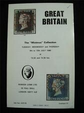 "Robson LOWE ASTA CATALOGO 1980 GB ""Minimus Collection"""