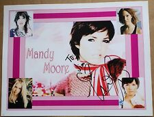 "Mandy Moore Actress Singer 8 1/2 x 11"" Signed Print Autographed Music"