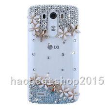 3D Handmade Glitter Luxury Bling Diamonds Pearls Hard Phone back Case Cover #D