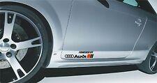 2x Powered By Audi S-line Aufkleber Logo A1 A2 A3 A4 A5 A6 A7 A8 Q3 Q5 Q7 TT R8