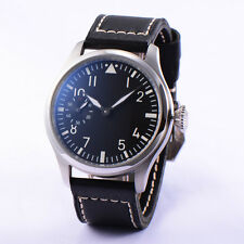 Casual 46mm Parnis Hand Winding movement Black Dial Luminous Number Watch Men