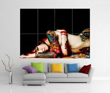 TATTOO NAKED SEXY BABE WOMAN LADY GIANT WALL ART PRINT PICTURE POSTER H264