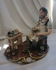 VINTAGE Retro LARGE COBBLER SHOEMAKER 1960s CERAMIC FIGURINE Ornament 25cm