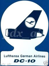 LUFTHANSA GERMAN AIRLINES McDONNELL DOUGLAS DC 10 STICKER