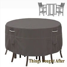 COVER for TALL ROUND PATIO TABLE & CHAIR SET Outdoor Furniture Picnic RAVENNA