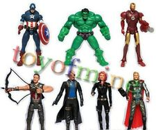 Modello Vendicatori Marvel Alliance 7 pc Doll Toy Hulk Iron Man Capitan America