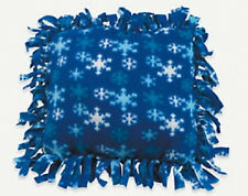 FLEECE SNOWFLAKE TIED PILLOW KIT ((NEW)) NO SEW!!!!  *GREAT GIFT*
