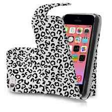 Leopard Print PU Leather Flip Case Cover For iPhone 5C 5 C