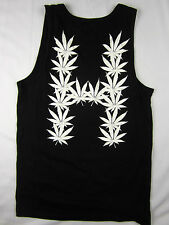 HUF Weed Bud Flag Premium Soft men's Tank top T Shirt black size MEDIUM