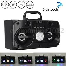 LED BLUETOOTH CASSA SPEAKER VIVAVOCE STEREO USB/TF/AUX/FM RADIO ALTOPARLANTE