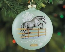 Breyer Horses 2016 Holiday Artist's Signature 2 Sided Glass Ornament #700820