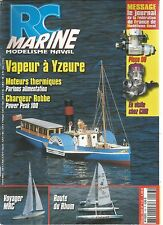 RC MARINE N°143 VAPEUR A YZEURE / MOTEURS THERMIQUES / CHARGEUR ROBBE / VOYAGER