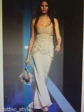 ICONIC spectacular CLASSY GORGEOUS VALENTINO lace cream silk gown size 8