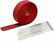 "RED EXHAUST PIPE HEAT WRAP 2"" x 50' MOTORCYCLE HEADER INSULATION"