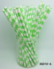 25 PCS Horizontal Stripes Paper Straws Drinking Straws For Wedding Party Color 6