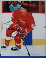 TIM TAYLOR signed 8x10 DETROIT RED WINGS