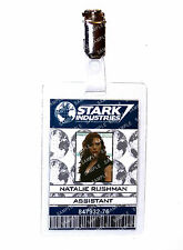 Iron Man Stark Natalie Rushman ID Badge Cosplay Prop Costume Christmas