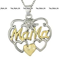 Mum Heart Necklace Silver & Gold Xmas Jewellery Gifts For Her Mother Mama U4