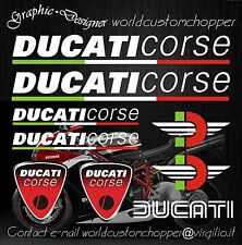 ADESIVI DECAL STICKERS DUCATI CORSE RACING MOTO GP SUPERBIKE 9 PEZZI