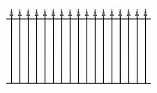 GA01EBAY Safety Spear Top Fence Railing 1830mm GAP x 950mm H wrought iron metal