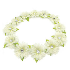 White Colour Flower Crown Garland Summer Headband Bridesmaid Wedding Festival