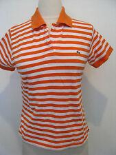 LACOSTE Orange And White Short Sleeve Polo Shirt SIZE 40 / US 8/M