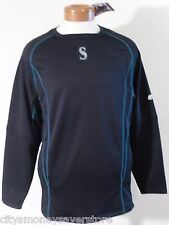 NWT Majestic Seattle Mariners Mens OnField Pullover Sweatshirt XL Navy MSRP$80