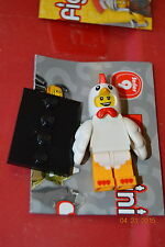 Lego Minifigure Collectible Series 9 8833 #7 Chicken Suit Guy Man Mini Fig