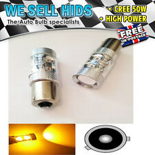 50w AMBER CANBUS ERROR FREE CREE PY21W 581 BAU15s LED CAR TURN SIGNAL LIGHT BULB