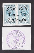 BOSNIA  2 Dinara ND1992  UNC   SDK BIH TUZLA  scarce war time local note