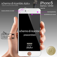 "TOUCH SCREEN + LCD RETINA IPHONE 6 BIANCO (4,7"" DISPLAY COMPLETO PREASSSEMBLATO)"