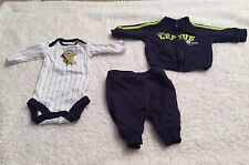 Just One You Carter's Three Piece Baseball Track Suit Newborn Size