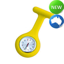 Nurse Silicone FOB Watch with Date Function - Yellow
