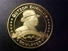 GUTZON BORGLUM SCULPTOR MOUNT RUSHMORE FROSTED PROOF MEDAL!FREE SHIPPING!V26UXXX