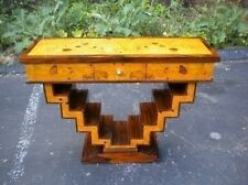 Amazing Art Deco style console table rosewood and Elm
